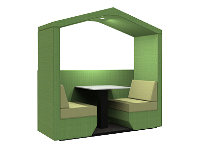 2 person den with half wall