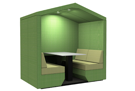 4 person den with end wall