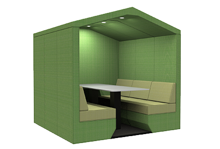 6 person den with end wall