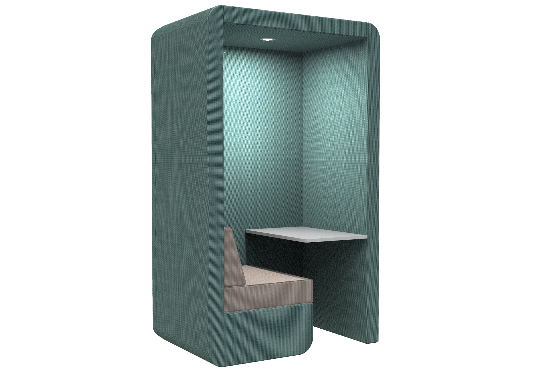 Workbooth no floor and end wall
