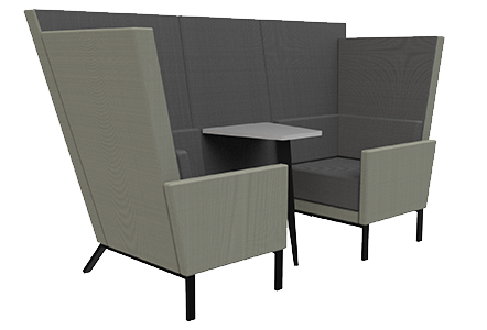 2 seat den with table