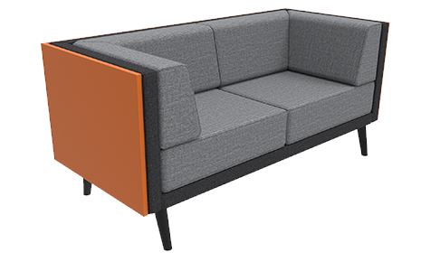 2 Seat Sofa with Cladding